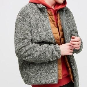 Uniqlo Men's Fluffy Yarn Fleece zip up JacketLarge